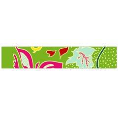 Green Organic Abstract Flano Scarf (large)