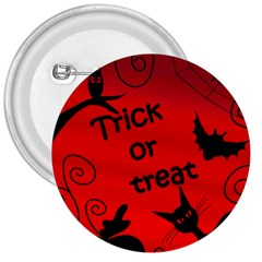 Trick or treat - Halloween landscape 3  Buttons