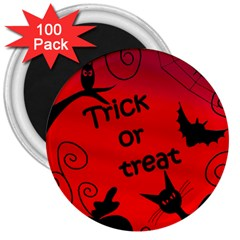 Trick or treat - Halloween landscape 3  Magnets (100 pack)