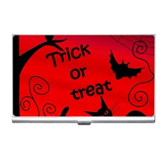 Trick or treat - Halloween landscape Business Card Holders