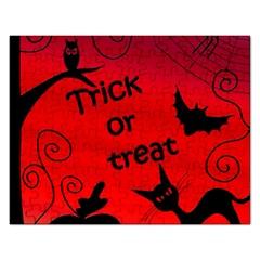 Trick or treat - Halloween landscape Rectangular Jigsaw Puzzl