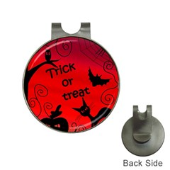 Trick or treat - Halloween landscape Hat Clips with Golf Markers
