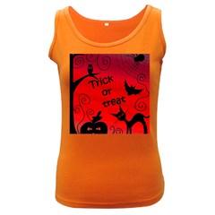 Trick or treat - Halloween landscape Women s Dark Tank Top