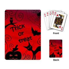 Trick or treat - Halloween landscape Playing Card