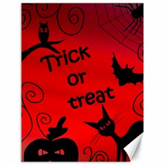 Trick or treat - Halloween landscape Canvas 12  x 16
