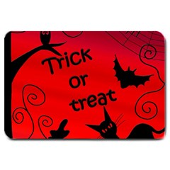 Trick or treat - Halloween landscape Large Doormat