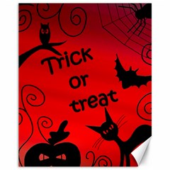 Trick or treat - Halloween landscape Canvas 11  x 14