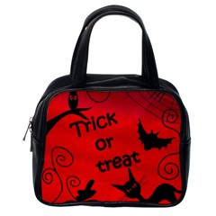 Trick or treat - Halloween landscape Classic Handbags (One Side)