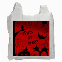 Trick Or Treat   Halloween Landscape Recycle Bag (two Side)
