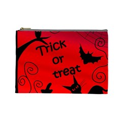 Trick or treat - Halloween landscape Cosmetic Bag (Large)
