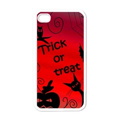 Trick or treat - Halloween landscape Apple iPhone 4 Case (White)