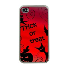 Trick or treat - Halloween landscape Apple iPhone 4 Case (Clear)