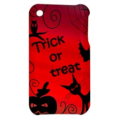 Trick or treat - Halloween landscape Apple iPhone 3G/3GS Hardshell Case