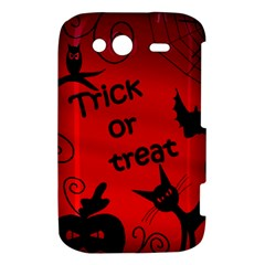 Trick or treat - Halloween landscape HTC Wildfire S A510e Hardshell Case