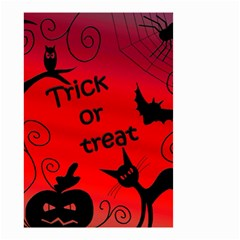Trick or treat - Halloween landscape Small Garden Flag (Two Sides)