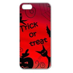 Trick or treat - Halloween landscape Apple Seamless iPhone 5 Case (Clear)