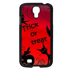 Trick or treat - Halloween landscape Samsung Galaxy S4 I9500/ I9505 Case (Black)