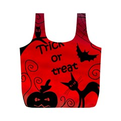 Trick or treat - Halloween landscape Full Print Recycle Bags (M)