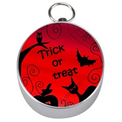 Trick or treat - Halloween landscape Silver Compasses