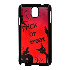 Trick or treat - Halloween landscape Samsung Galaxy Note 3 Neo Hardshell Case (Black)