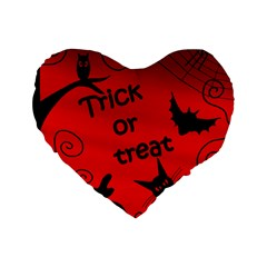 Trick or treat - Halloween landscape Standard 16  Premium Flano Heart Shape Cushions