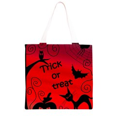 Trick or treat - Halloween landscape Grocery Light Tote Bag