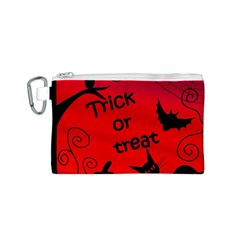 Trick or treat - Halloween landscape Canvas Cosmetic Bag (S)