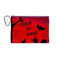 Trick or treat - Halloween landscape Canvas Cosmetic Bag (M)