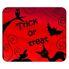 Trick or treat - Halloween landscape Double Sided Flano Blanket (Small)