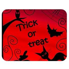 Trick or treat - Halloween landscape Double Sided Flano Blanket (Medium)