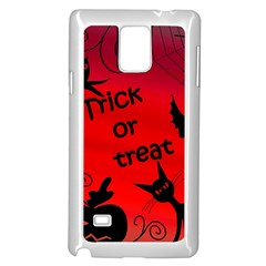 Trick or treat - Halloween landscape Samsung Galaxy Note 4 Case (White)