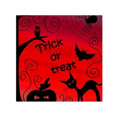 Trick or treat - Halloween landscape Small Satin Scarf (Square)