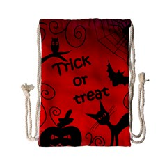 Trick or treat - Halloween landscape Drawstring Bag (Small)