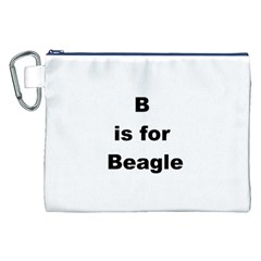B Is For Beagle Canvas Cosmetic Bag (XXL)