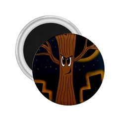 Halloween - Cemetery evil tree 2.25  Magnets