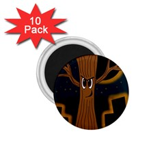 Halloween - Cemetery evil tree 1.75  Magnets (10 pack)