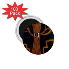 Halloween - Cemetery evil tree 1.75  Magnets (100 pack)