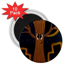 Halloween - Cemetery evil tree 2.25  Magnets (10 pack)
