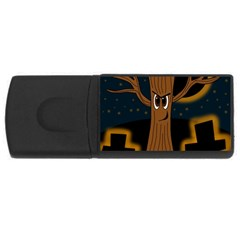 Halloween - Cemetery evil tree USB Flash Drive Rectangular (2 GB)