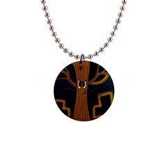 Halloween - Cemetery evil tree Button Necklaces