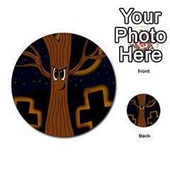 Halloween - Cemetery evil tree Multi-purpose Cards (Round)