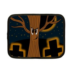 Halloween - Cemetery evil tree Netbook Case (Small)