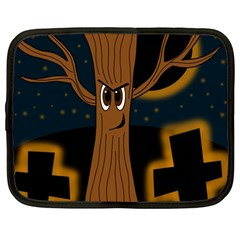 Halloween - Cemetery evil tree Netbook Case (Large)