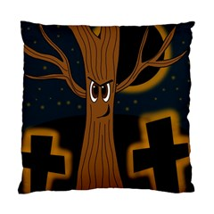 Halloween - Cemetery evil tree Standard Cushion Case (Two Sides)