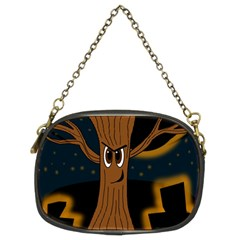 Halloween - Cemetery evil tree Chain Purses (Two Sides)