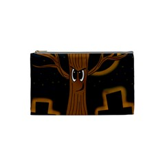 Halloween - Cemetery evil tree Cosmetic Bag (Small)