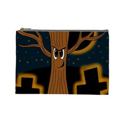 Halloween - Cemetery evil tree Cosmetic Bag (Large)