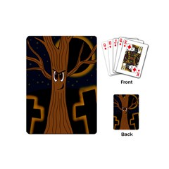 Halloween - Cemetery evil tree Playing Cards (Mini)