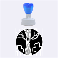 Halloween - Cemetery evil tree Rubber Round Stamps (Medium)