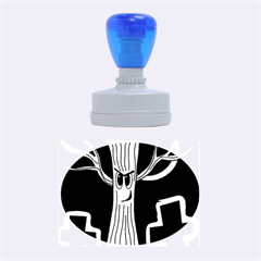 Halloween - Cemetery evil tree Rubber Oval Stamps